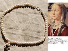 Medieval jewelry replica: necklace based on a Flemish painting