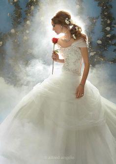 Disney Belle inspired wedding dress