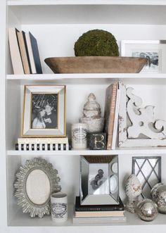 7 Tips for Styling Shelves Midwest Living Living Room Shelves, My Living Room, Home And Living, Living Room Decor, Styling Bookshelves, Decorating Bookshelves, Bookshelf Ideas, Bookcases, Decorate Bookcase