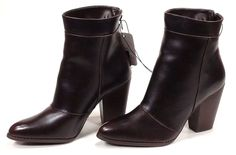 Women's Zip-Up High Heel Boots, Brown Burgandy Faux Leather NEW, Size 10, Target in Clothing, Shoes & Accessories, Women's Shoes, Boots   eBay
