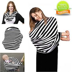 Nursing Scarf Car Seat Breastfeeding Covers Multi Use Canopy Shopping Cart Soft Shawl Full Wrap Protect Privacy for Babies Women -- Want to know more, click on the image.-It is an affiliate link to Amazon. #Breastfeeding