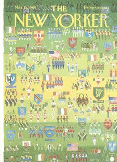 Anatol Kovarsky : Cover art for The New Yorker 2300 - 15 March 1969