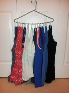 From Pinterest to Projects – Tank top Organization | From Married to Merry Tank Top Organization, Crafty Projects, Wardrobe Rack, Tank Tops, Merry, Fashion, Moda, Halter Tops, Fashion Styles