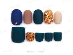 #dark color #gold #nail