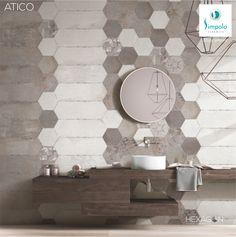 Hexagon Tiles, Ceramics, Mirror, Bathroom, Tiling, Home Decor, Diy Room Decor, Home, Ceramica