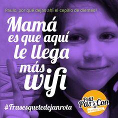Descubriendo la #tecnología y el #wifi con #humor!! :) www.petitpascon.es #frasesquetedejanrota con @petitpascon  #camisetas para #familiasmolonas #cosasdeniños #infanciafeliz
