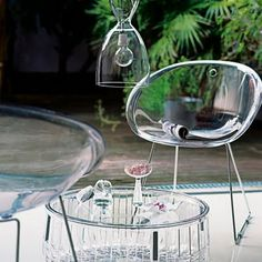 Shatter and weather resistant acrylic outdoor furniture is perfect for patio, porch, balcony and hom 1960s Furniture, Lucite Furniture, Glass Furniture, Outdoor Furniture, Acrylic Chair, Acrylic Furniture, George Nelson, How To Clean Furniture, Furniture Making