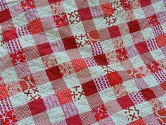 Grammie Q's: Blogger's Quilt Festival Time Gingham Quilt, Postage Stamp Quilt, Nine Patch, Quilt Festival, Quilting Tips, Squares, Jelly, Quilt Patterns, Charity