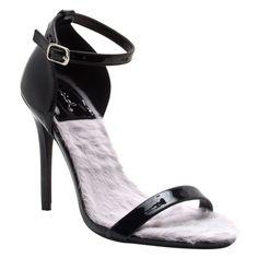 Qupid FG58 Women's Single Band Ankle Strap Stiletto Heel Dress Sandals