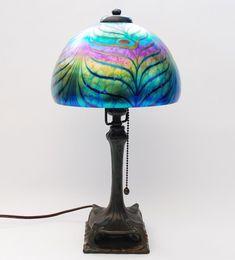 love this lamp! Peacock Decor, Peacock Art, Peacock Nursery, Antique Lamps, Vintage Lamps, Light Art, Interior Lighting, Lampshades, Art Studios