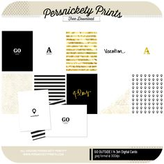 Quality DigiScrap Freebies: Go Outside journal cards freebie from Persnickety Prints #ProjectLife