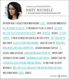 #ChelseaHallGirl Naty Michele of A Love Affair With Fashion