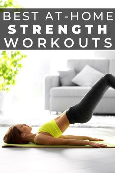 Stuck at home? Self-quarantining? These 7 at-home strength workouts will help keep your sane as you get your sweat on in the comfort of your own home. Mini Workouts, Killer Workouts, Easy Workouts, At Home Workouts, Core Workouts, Best At Home Workout, Workout Plan For Women, Muscle Building Workouts, Low Impact Workout