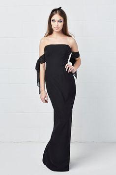 aae1d00d7a Size 10 Black Draped Sleeve Bridesmaid Dress