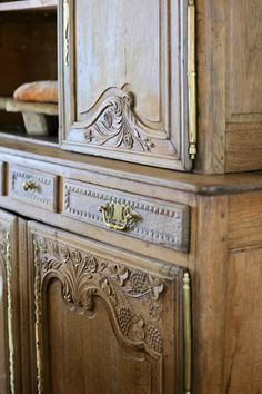 French Cupboard and 4 Things I Look For When Shopping For Antiques French Country Cottage Antique French Cupboard And Tips For What I Look For When Shopping For Antiques. French Country Furniture, French Country Cottage, French Farmhouse, Country Farmhouse, French Decor, French Country Decorating, Antique Cupboard, Antique Cabinets, Distressed Furniture Painting