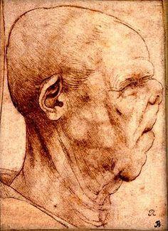 Grotesque head, by Leonardo da Vinci Vinci, Leonardo, Portrait Drawing, Leonardo Da Vinci, Painter, Drawing Illustrations, Renaissance Art, Master Drawing, Art