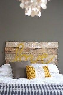 pallet headboard #DIY