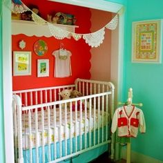Put Baby in the Closet: 15 Lovely Nurseries in Converted Closets with Small Space Design Tips