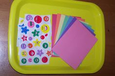 Matching Colored Stickers to Colored Papers #TotTray