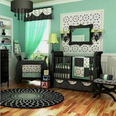 Green baby room color. Paint from Benjamin Moore about $21 a gallon. I will need 1 gallon of 'fresh green' and 1 gallon of white and a half gallon of orange.