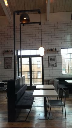 Half wall metal work and light post, tables, benches and chairs by in Nashville, TN Back Bar, Beer Taps, Steel Wall, Benches, Metal Working, Nashville, Tables, Chairs, Building