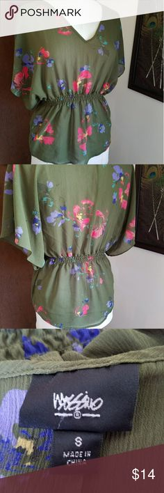 Mossimo Peplum top Elastic waist, batwing sleeves. Very light, great for spring/summer! Mossimo Supply Co Tops Blouses