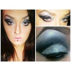 Created using eyeshadows DarkMatter and Luna along with litcosmetics' glitter in HelloSunshine. www.starcrushedminerals.com