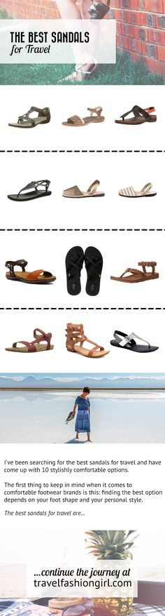 Having a tough time finding sandals that work for you for travel? Here are 10 stylishly comfortable options for your next warm weather destination! | travelfashiongirl.com