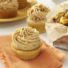 Peanut & Banana Cupcakes Recipe from Taste of Home -- shared by Mary Ann Lee of Clifton Park, New York