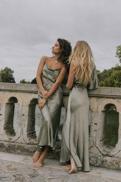 La Lune Bias Cowl Midi Dress | Sage | Dresses | Shona Joy – Shona Joy International