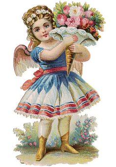 Victorian Clip Art - Pretty Little Fairy Girl - The Graphics Fairy Clip Art Vintage, Vintage Ephemera, Vintage Cards, Vintage Postcards, Victorian Angels, Victorian Era, Vintage Pictures, Vintage Images, Images Victoriennes