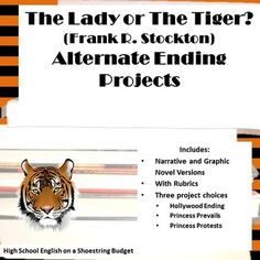 Set of projects to create an alternate ending to the story. Three different project types: Hollywood Ending, Princess Protests, and Princess Prevails. Each project is offered individually as a narrative or graphic novel version. In addition, the projects are offered together on a student choice version, for both narrative and graphic novel versions. Many options to fit your classroom!