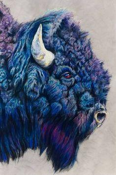 Yanasa (buffalo) Signed Giclee Fine Art Print by Jen Starwalt Buffalo Painting, Buffalo Art, Nature Artists, Animal Sketches, Native Art, Wildlife Art, Animal Paintings, Painting & Drawing, Cow Painting