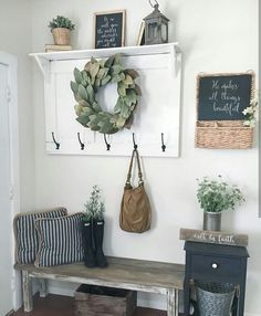 A farmhouse mudroom.