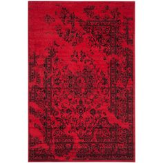 Adirondack Red/Black 8 ft. x 10 ft. Area Rug