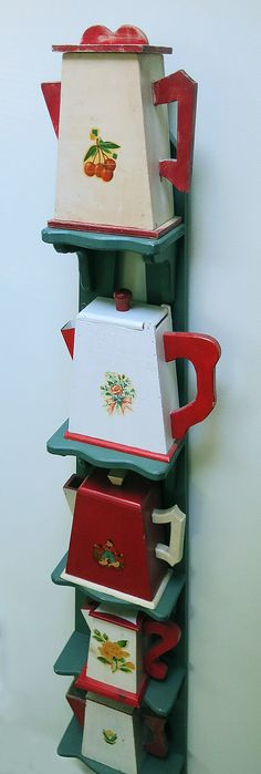The T-Cozy ~ these are vintage laundry detergent dispensers.