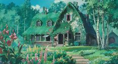 Kiki's Delivery Service Opening scene and Kiki's family house. Wallpaper Notebook, Wallpaper Pc, Computer Wallpaper, Kiki Delivery, Kiki's Delivery Service, Studio Ghibli Art, Studio Ghibli Movies, Studio Ghibli Background, Anime Scenery