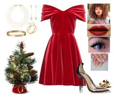 """Last Christmas"" by briannanryans ❤ liked on Polyvore featuring Emilio De La Morena, Cartier, Susan Caplan Vintage, Forever 21, Christian Louboutin and Nanis"