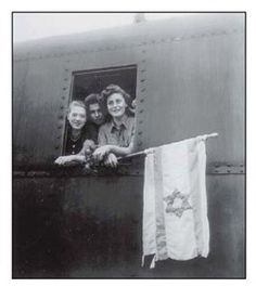 Jewish youths liberated from the concentration camp at Buchenwald on their way to Palestine, June 5, 1945
