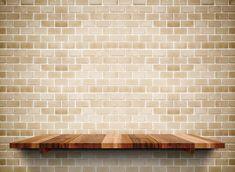Empty wooden shelf on grunge brick Premium Photo Free Background Photos, Poster Background Design, Blue Background Images, Geometric Background, Cheap Furniture, Discount Furniture, Fireworks Photography, Kitchen Background, Food Graphic Design
