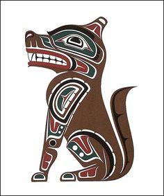 Northwest Native Artwork - Wolf colour