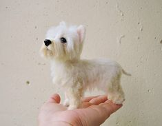Its a unique, handmade, miniature needle felted dog sculpture, MADE TO ORDER! Its made from your photos! So every dog sculpture is one of a kind, completely pose-able, sculpture of any dog breed. Carefully crafted from various types of wool by needle felting technique. -Size will be approx: