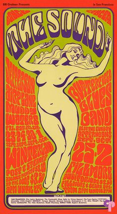 Jefferson Airplane at Winterland 9/23-23 & 9/30-10/1/66 Fillmore Auditorium 9/25 & 10/2/66 by Wes Wilson