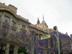 Art Nouveau Metro sign in Mexico City....weird given that the metro was not built until 1968.
