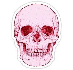 "tumblr stickers | Tumblr Pink Human Skull"" Stickers by sadeelishad | Redbubble"