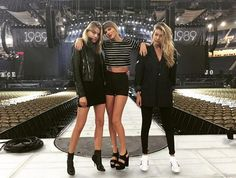 Taylor Swift, Gigi Hadid, and Martha Hunt