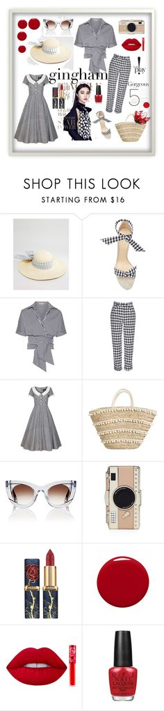 """""""#gingham"""" by explorer-14673103603 on Polyvore featuring ASOS, Alexandre Birman, Michael Kors, Topshop, Collectif, Thierry Lasry, Kate Spade, Givenchy, Lime Crime and OPI"""