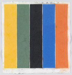Ellsworth Kelly. Colored Paper Image XIII (Yellow Green Black Blue Orange) from Colored Paper Images. 1976