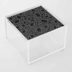 Organic - Black and White Acrylic Box by laec | Society6 Good Advice For Life, Storage Places, White Acrylics, Acrylic Box, Decorative Boxes, Organic, Black And White, Store, Black White