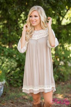 We've got another adorable lace dress that is simply irresistible - you're going to love wearing this all season long!